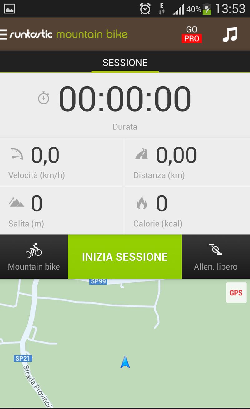Runtastic Mountain Bike App
