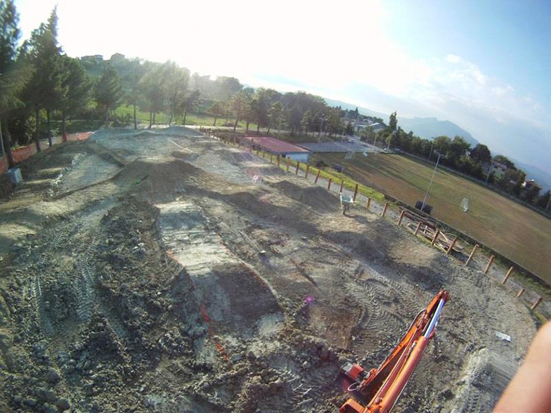 La pump track del Bike Park Valmarecchia