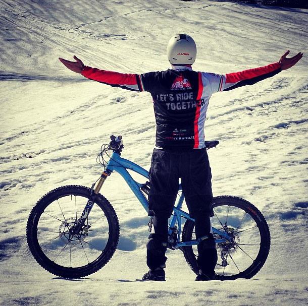 MTB e Social network in montagna sulla neve
