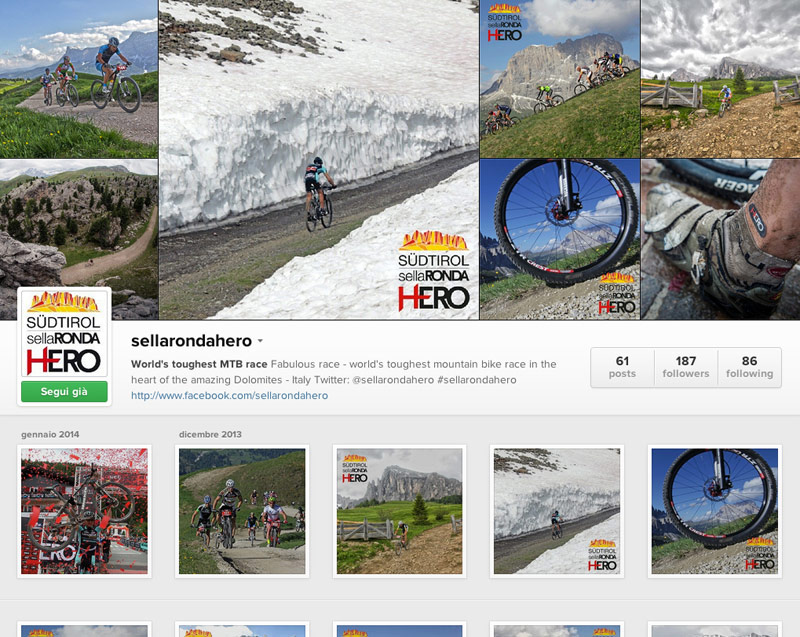 Sellaronda Hero su instagram