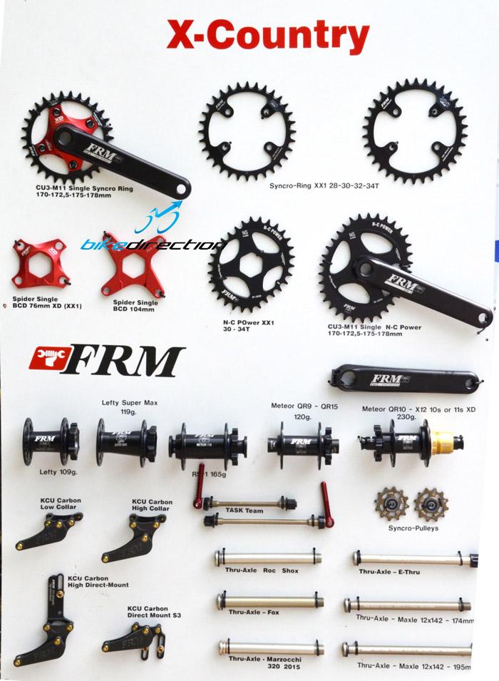 I componenti FRM 2016 per XC